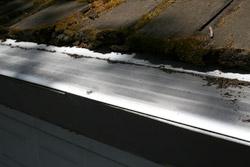 GutterDome on cedar shake roof