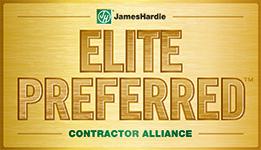 James Hardie Elite Preferred Siding Contractor