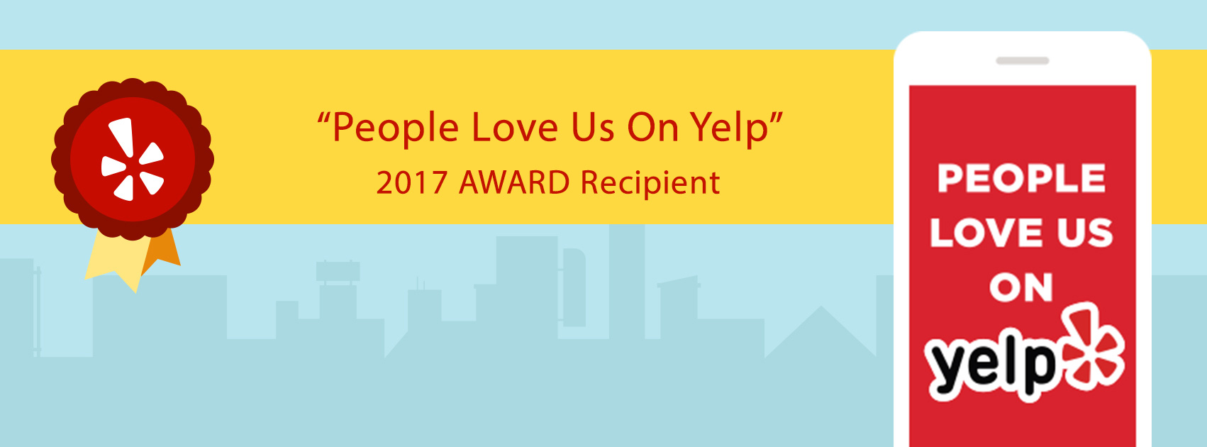 2017 Yelp Award Winner