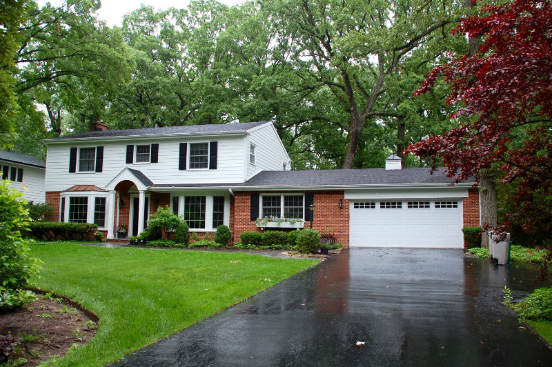 Lake Forest Colonial Style Home James Hardieplank Lap
