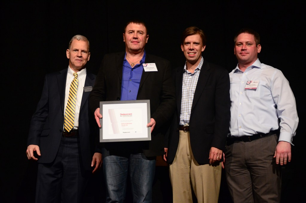 Replacement Contractor Service Excellence Award Winner